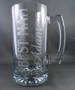 Etched Glass Giftware - Beer Stein Example